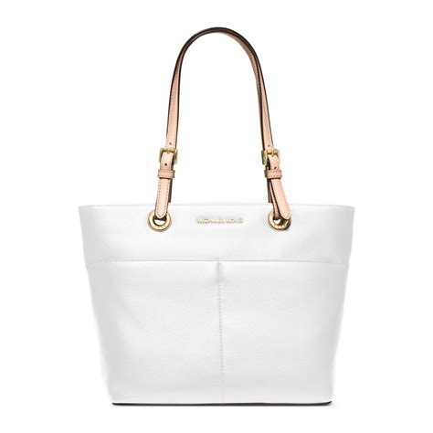Michael Kors Bedford Optic White michael kors bedford leather tote in white lyst