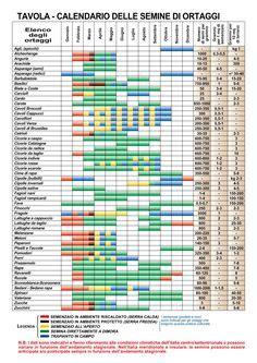 calendario semina fiori tabella rotazioni orticoltura gardens