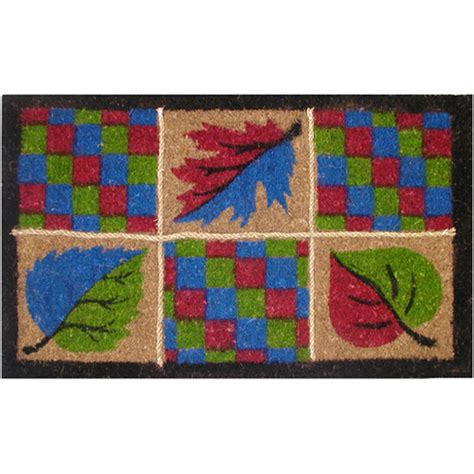 Fall Outside Door Mats Decorative Autumn Door Mat In Doormats