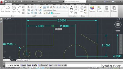 autocad 2007 dimensioning tutorial how to create dimensions in autocad lynda com tutorial