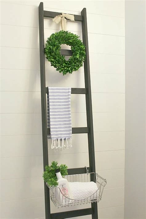 Bathroom Storage Ladder 20 Easy Diy Bathroom Decor Ideas