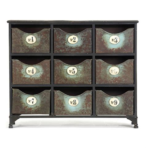 industrial storage cabinets with drawers reclaimed industrial iron 9 drawer storage cabinet kathy