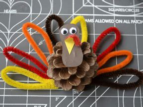 How To Make A Turkey Out Of Construction Paper - annies home pinecone turkey easy family craft