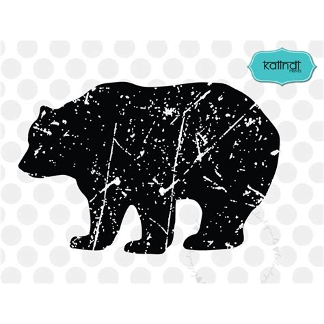 grunge bear svg bear grunge svg distressed svg bear
