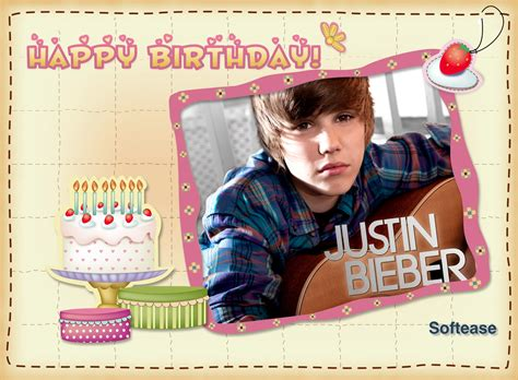 justin bieber printable birthday cards giant star justin bieber his birthday is coming