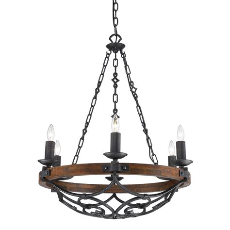 6 light chandelier golden lighting madera black iron six light chandelier on sale