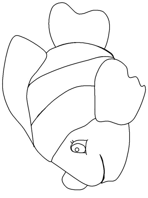 fish shape coloring pages tropical fish coloring page az coloring pages