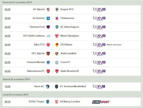 Calendrier De La Ligue 2 Football Ligue 2 Le Programme De La 15e Journ 233 E D 233 Voil 233