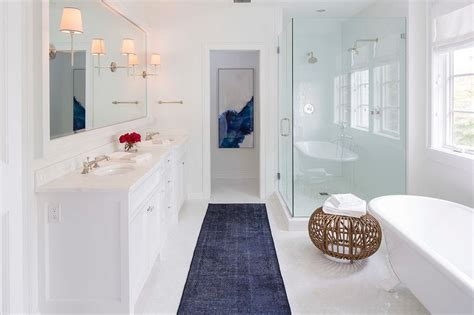 Dark Blue Bathroom Rugs Blue And White Bathroom Rugs