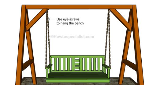 hanging bench swing pdf diy hanging swing bench plans download handmade