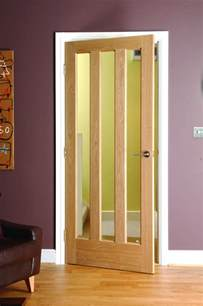 Interior Glass Doors by Alnwick 3 Panel Clear Glazed Oak Veneered Interior Door