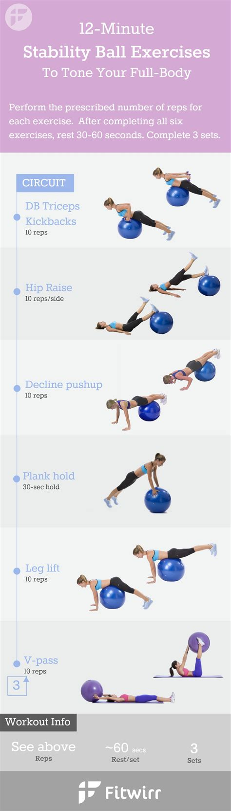 stability ball exercises  min  home workout