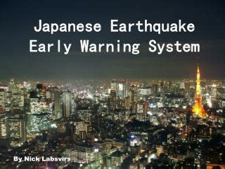 earthquake early warning system ppt earthquake preparation powerpoint presentation id