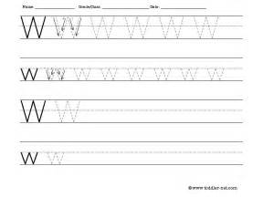 tracing and writing letter w worksheet