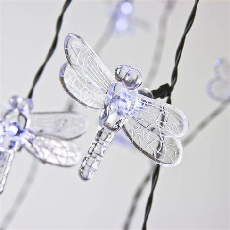 dragonfly string lights 20 led solar dragonfly string lights