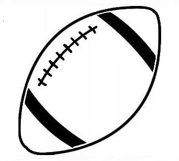 Football Laces Outline by Black And White Football Clipart The Cliparts Databases