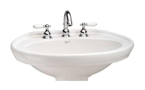 Waverly Plumbing by Mansfield Plumbing 338 4wh Waverly Pedestal Lavatory Bowl