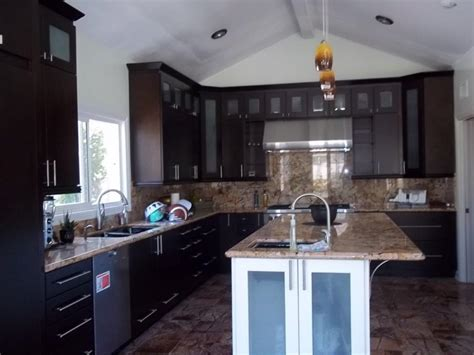 images of kitchen cabinets with glass doors espresso kitchen cabinets with square glass doors cabinet