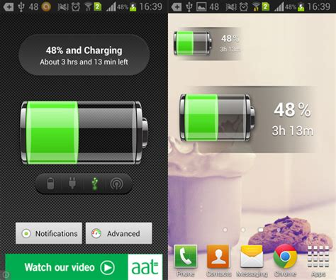 battery widgets for android battery a simple android battery widget aw center