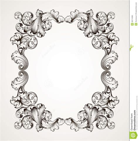 baroque pattern frame 18 baroque frame vector border images vector corner