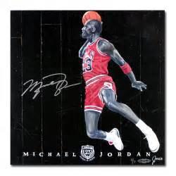 Michael jordan autographed quot 1988 dunk quot chicago bulls game used floor