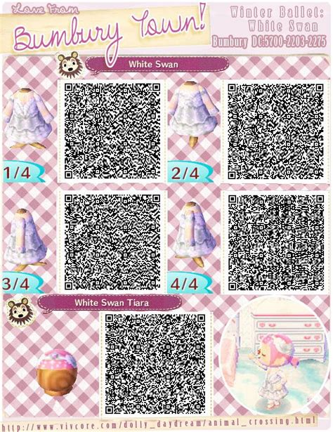 acnl spring colors winter ballet animal crossing new leaf qr codes