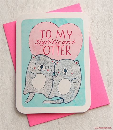 s pun cards we adore otterly adorable guff