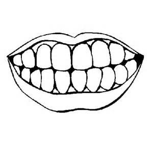 Jeu Pour Enfants En Ligne #15: Bouche-et-dents-colorear.jpg