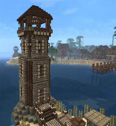 best way to build a house lighthouse by horsesfree2run minecraft pinterest the