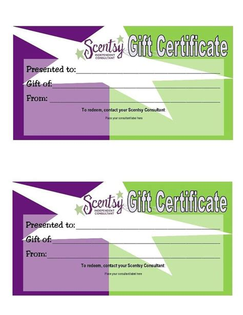 scentsy gift certificate template 1000 images about scentsy on gift