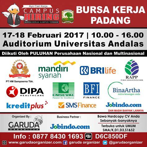 bursa kerja padang februari 2017 jadwal event info