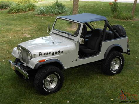 automatic jeep 1985 jeep cj7 renegade fresh two year restoration