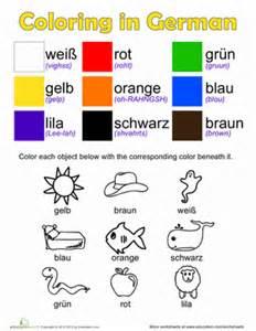 colors in german german colors worksheet education