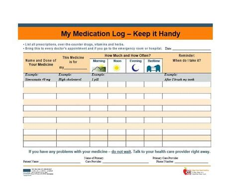 58 Medication List Templates For Any Patient Word Excel Pdf Medication List Template Free