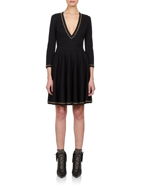Givenchy 3008bs Side Studed lyst givenchy stud trim knitted dress in black
