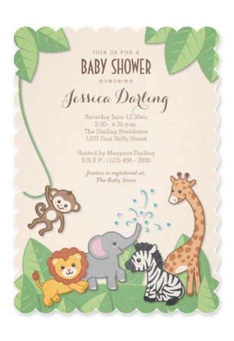 pin by barbara soroczak on shower baby shower baby and baby shower table safari jungle animals modern baby shower invitation baby shower