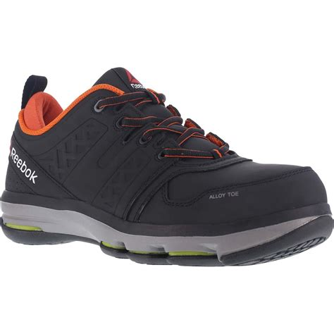 reebok athletic shoes reebok dmx flex work alloy toe work athletic shoe rb3602