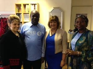 Msp Ms Kem Chaira fiona is guest of honour at thrift shop sale launch fiona hyslop msp