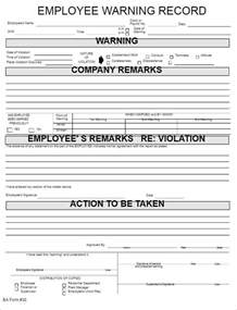 Employee Warning Template by Employee Write Up Form Templates Free Word Pdf