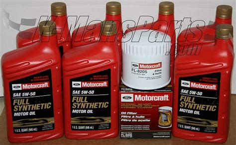 ford synthetic change motorcraft 5w 50 synthetic motor change kit 2007