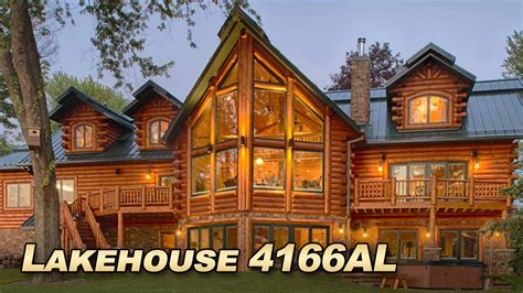 lakehouse 4166al luxury log home with 6000 sq ft of
