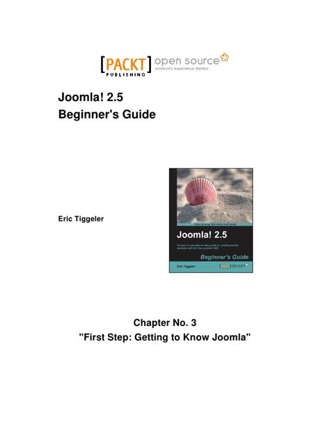 joomla tutorial step by step pdf joomla 2 5 beginner s guide first steps getting to know