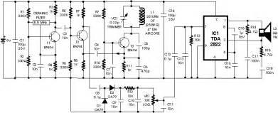 metal detector schematic circuit diagram audio amplifier schematic circuits picture