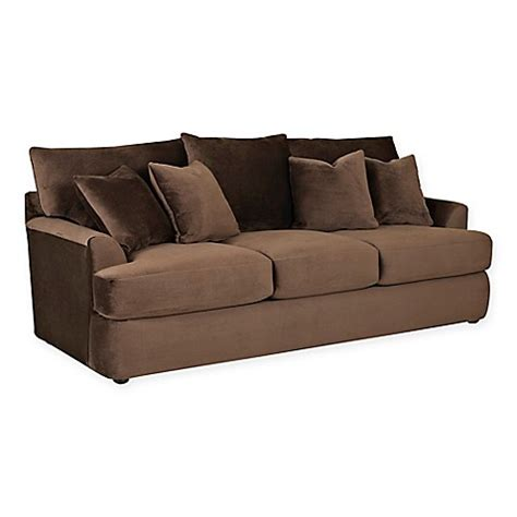 klaussner findley sectional klaussner 174 findley sofa sleeper in chocolate bed bath