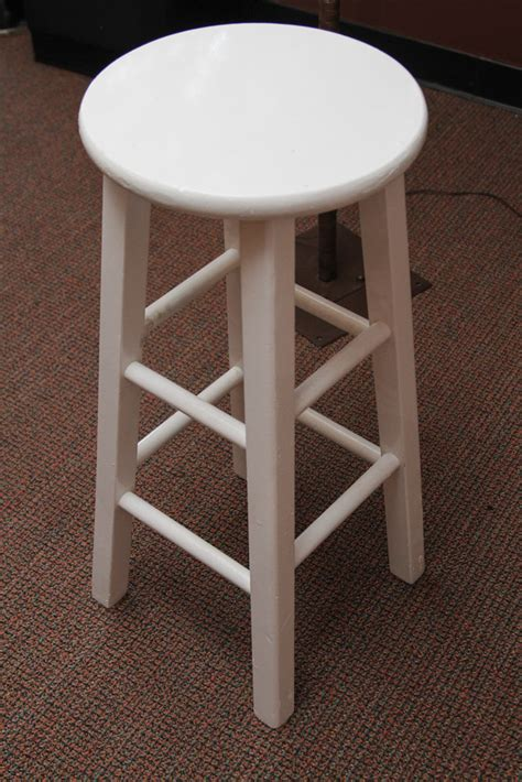 white poo barstool white wooden a1