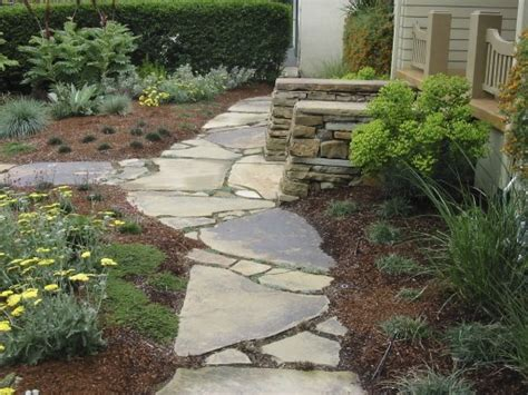 Design Ideas For Flagstone Walkways with Flagstone Walkway Home Design Ideas Pictures Remodel And Decor