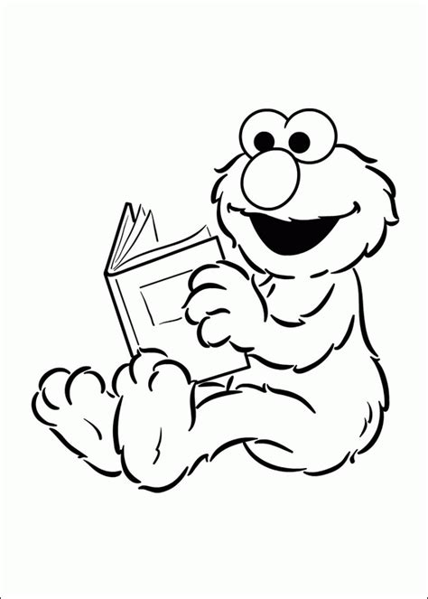 Cool Printable And Cute Coloring Baby Elmo For Kids Elmo Coloring Pages