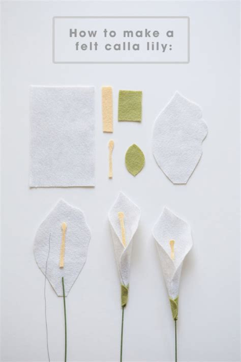How To Make A Paper Lilly - make a felt calla with this easy step by step