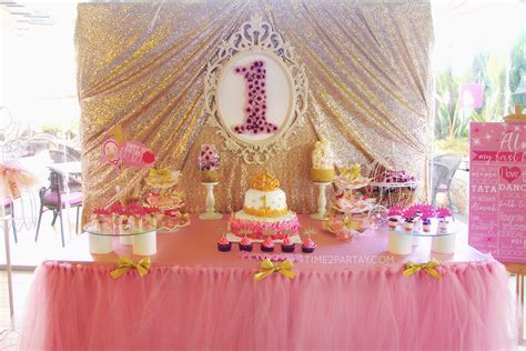 A Princess Themed First Birthday Party   Time2Partay.com