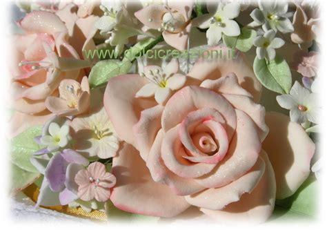 fiori pasta di mais cake topper decorazione per matrimonio fiori